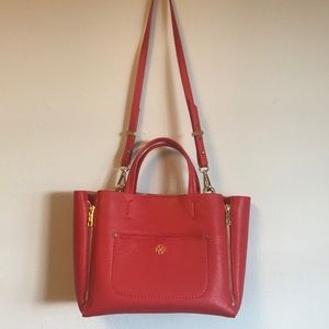 Ann Taylor Mini Signature Tote in Red like new!